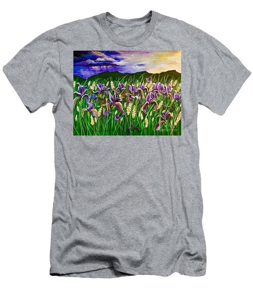 Spring Storm  Iris Fields Men's T-Shirt (Athletic Fit)