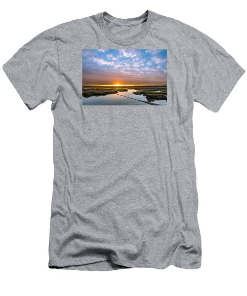 Spring Sunrise On Arcata Bay Men's T-Shirt (Slim Fit) by Greg Nyquist