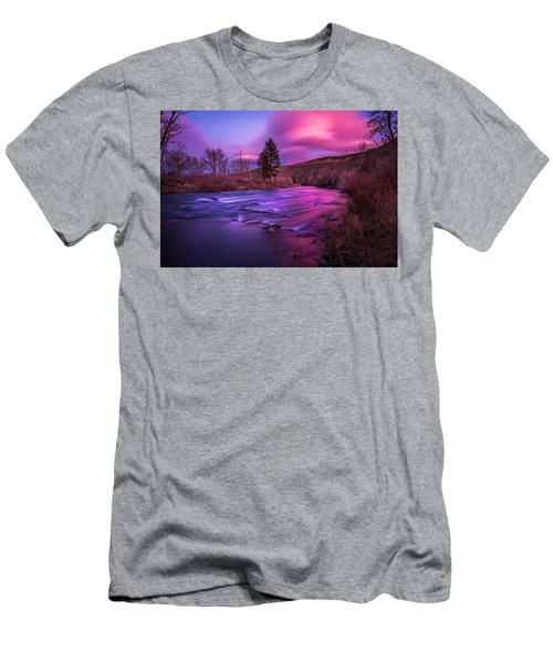 Men's T-Shirt (Slim Fit) featuring the photograph Spring Sunset Along The Truckee River Reno Nevada by Scott McGuire