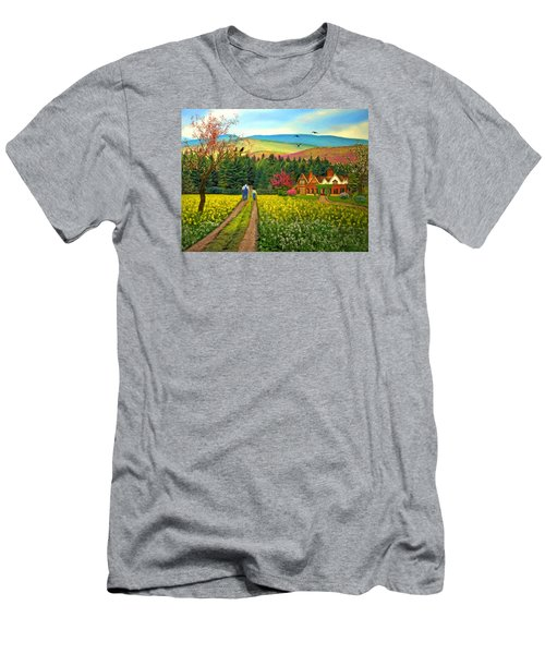 Spring Time In The Mountains Men's T-Shirt (Athletic Fit)