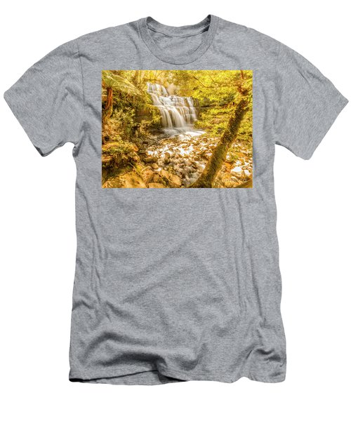 Spring Waterfall Men's T-Shirt (Athletic Fit)