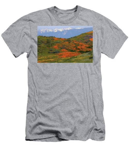 Men's T-Shirt (Slim Fit) featuring the photograph Spring Wildflower Display At Diamond Lake In California by Jetson Nguyen