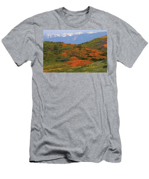 Spring Wildflower Display At Diamond Lake In California Men's T-Shirt (Athletic Fit)