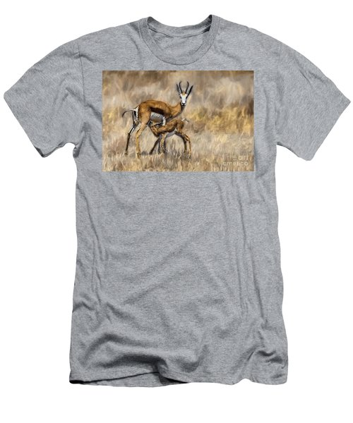 Springbok Mom And Calf Men's T-Shirt (Athletic Fit)