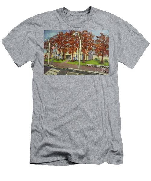 Springtime At Waltham Police Station Men's T-Shirt (Slim Fit) by Rita Brown