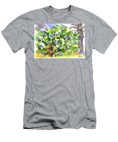 Men's T-Shirt (Slim Fit) featuring the painting Springtime Lilac Abstraction by Kip DeVore