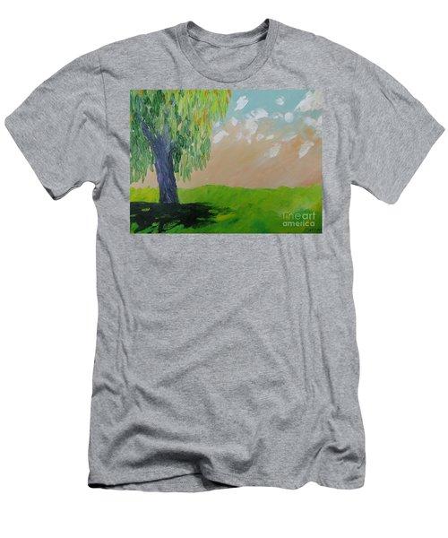 Springtime Willow Men's T-Shirt (Athletic Fit)