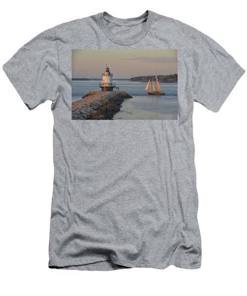 Sprint Point Ledge Sails Men's T-Shirt (Athletic Fit)