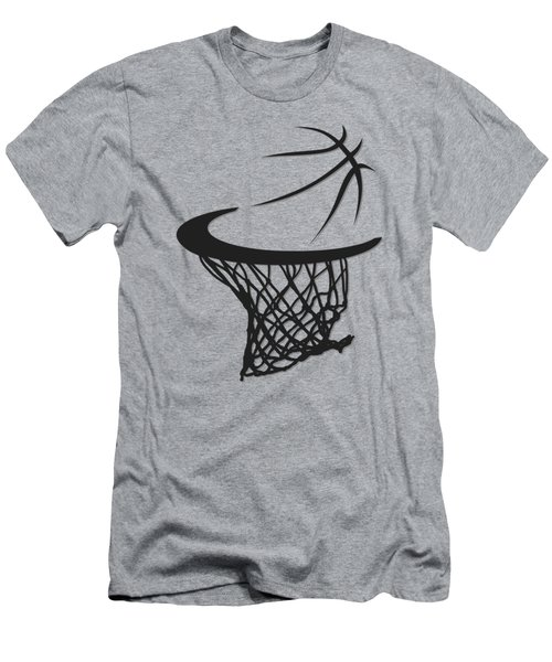 Spurs Basketball Hoop Men's T-Shirt (Athletic Fit)