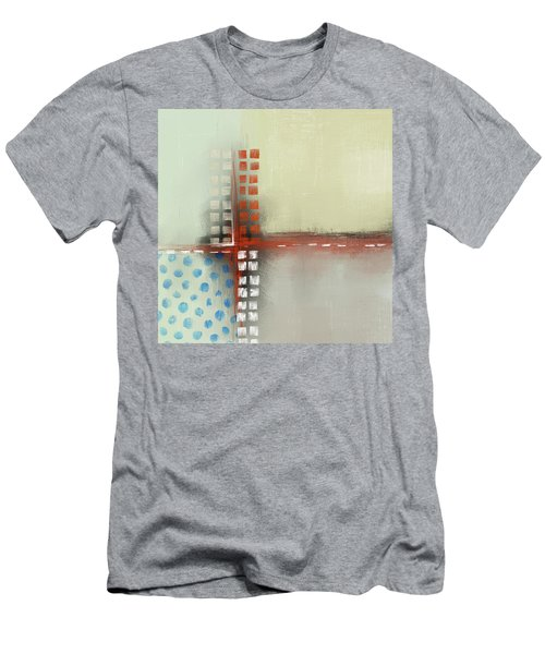 Men's T-Shirt (Athletic Fit) featuring the mixed media Square The Circles by Eduardo Tavares