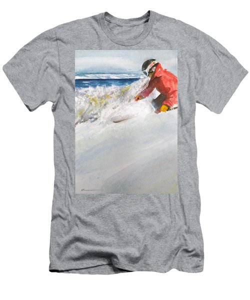 Men's T-Shirt (Slim Fit) featuring the painting Beaver Creak by Ed Heaton
