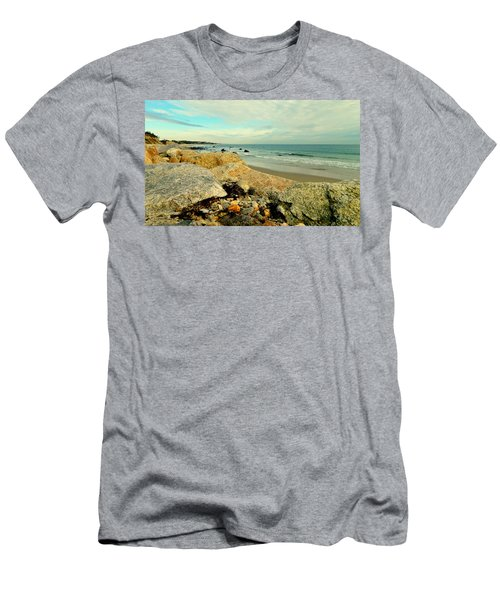 Squibby Cliffs And Mackerel Sky Men's T-Shirt (Athletic Fit)