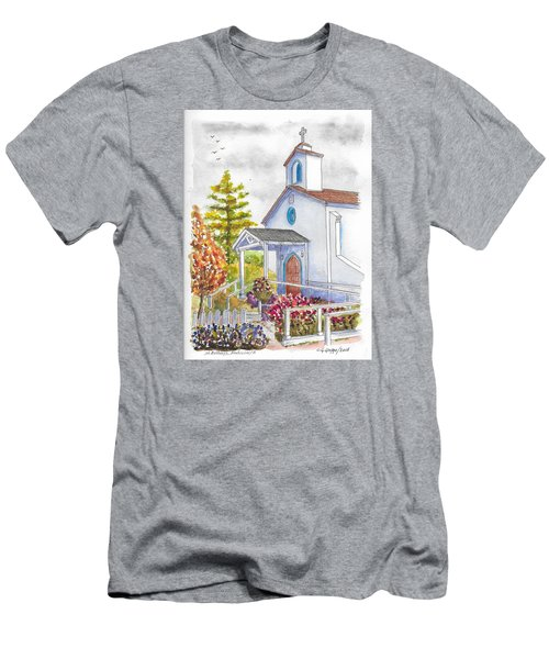St. Anthony's Catholic Church, Mendocino, California Men's T-Shirt (Athletic Fit)