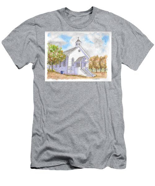 St. Bernard's Catholic Church, Volcano, California Men's T-Shirt (Athletic Fit)