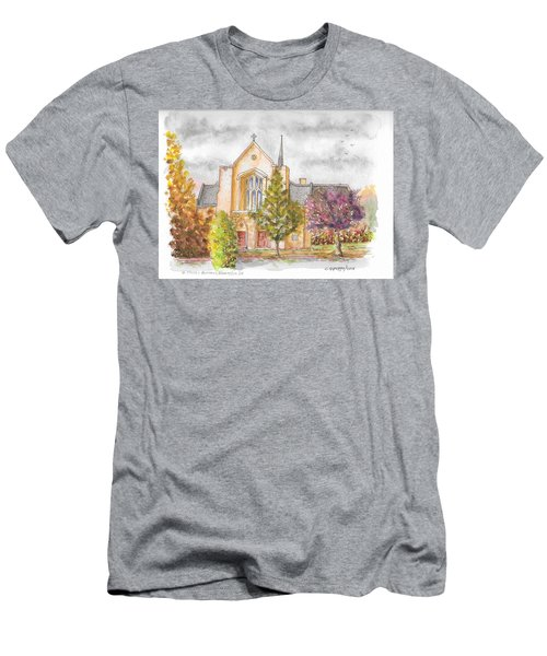 St. Charles Borromeo Catholic Church, Bloomington, Indiana Men's T-Shirt (Athletic Fit)
