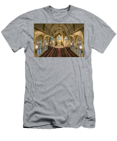 St. Francis Xavier Cathedral Men's T-Shirt (Slim Fit) by Andy Crawford
