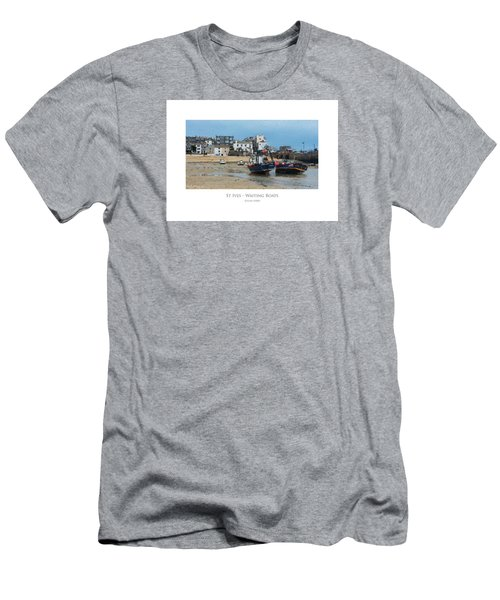 Men's T-Shirt (Athletic Fit) featuring the digital art St Ives - Waiting Boats by Julian Perry