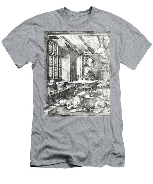 St Jerome In His Study Men's T-Shirt (Athletic Fit)