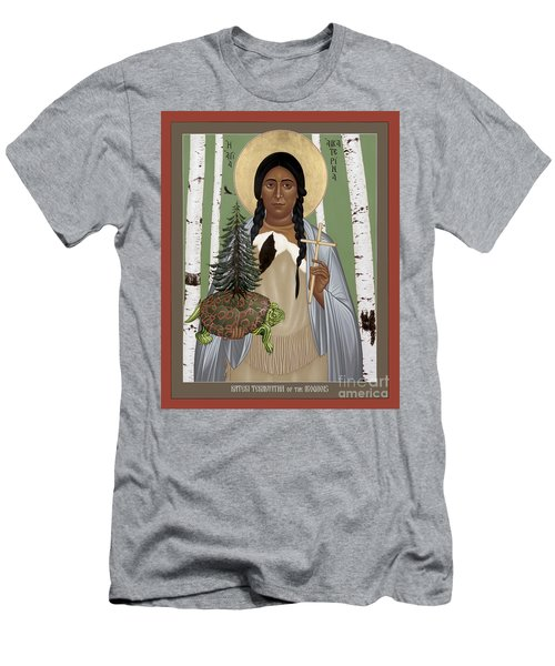 St. Kateri Tekakwitha Of The Iroquois - Rlktk Men's T-Shirt (Athletic Fit)
