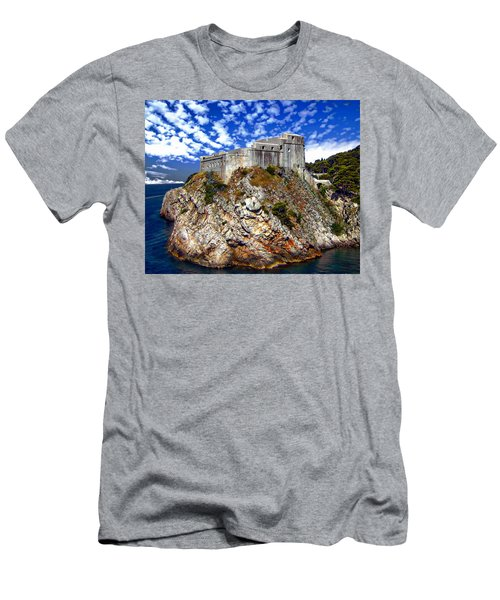 Men's T-Shirt (Athletic Fit) featuring the photograph St. Lawrence Fortress by Anthony Dezenzio