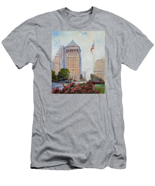St. Louis Civil Court Building And Market Street Men's T-Shirt (Athletic Fit)