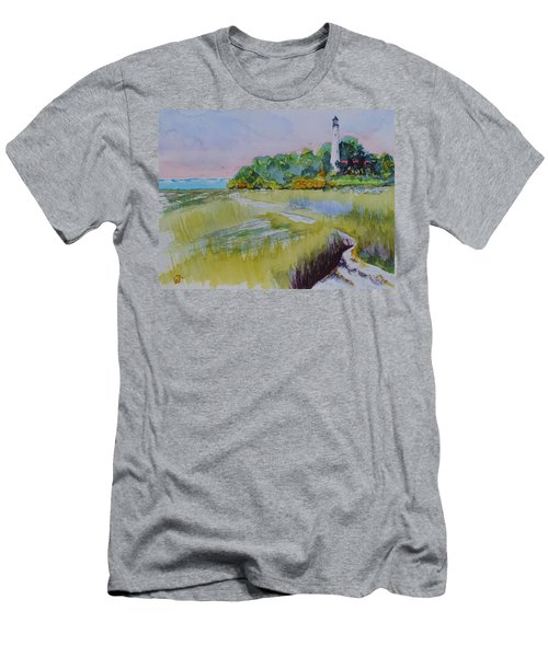 St. Marks Lighthouse Beachfront Men's T-Shirt (Athletic Fit)