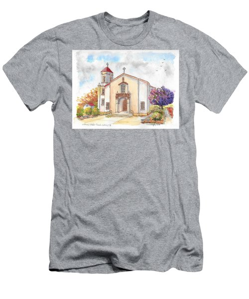St. Mary's Catholic Church, Oakdale, California Men's T-Shirt (Athletic Fit)