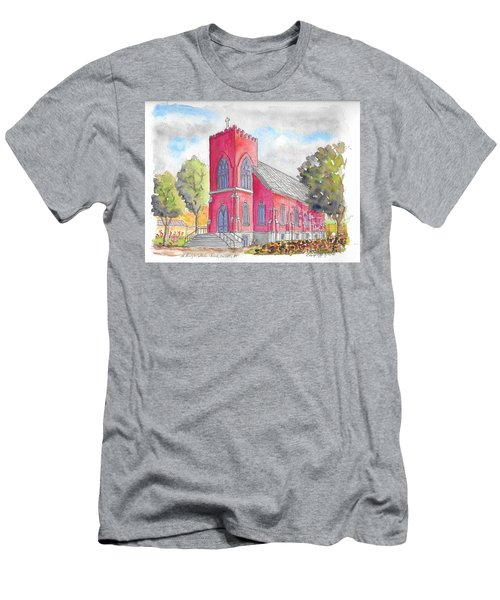St. Mary's Catholic Church, Oneonta, Ny Men's T-Shirt (Athletic Fit)
