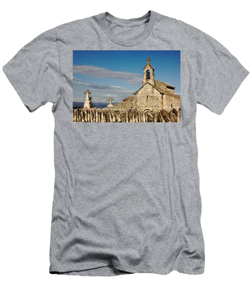 St. Pantaleon Church,  Luberon, France Men's T-Shirt (Athletic Fit)