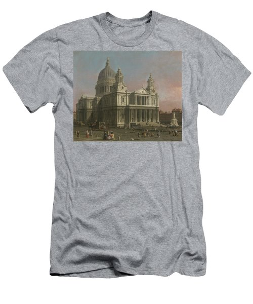 St. Paul's Cathedral Men's T-Shirt (Slim Fit) by Giovanni Antonio Canaletto