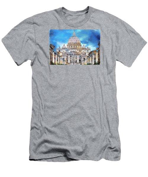 St. Peter's Basilica Men's T-Shirt (Slim Fit) by Andrzej Szczerski