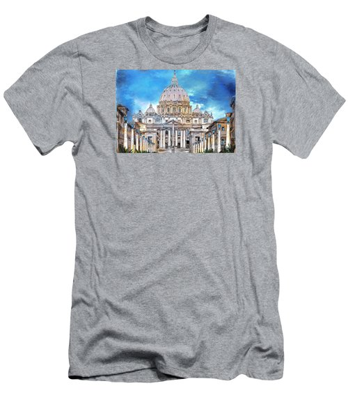 St. Peter's Basilica Men's T-Shirt (Athletic Fit)