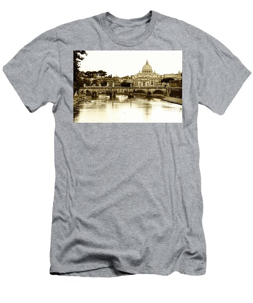 Men's T-Shirt (Slim Fit) featuring the photograph St. Peters Basilica by Mircea Costina Photography