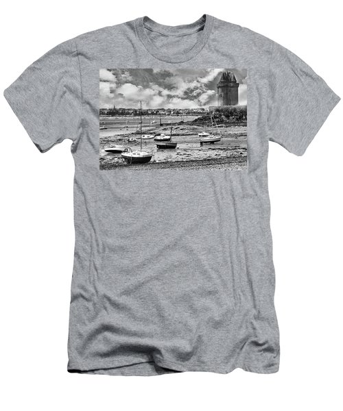 Men's T-Shirt (Athletic Fit) featuring the photograph St. Servan Anse At Low Tide by Elf Evans