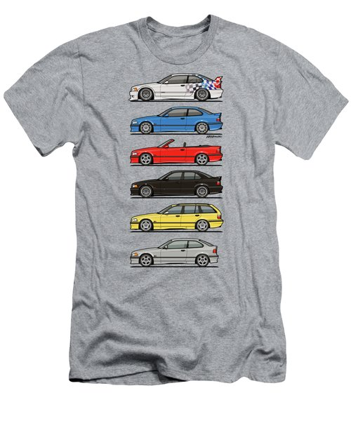 Stack Of E36 Variants Men's T-Shirt (Athletic Fit)