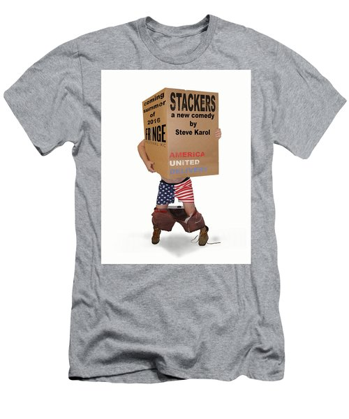 Stackers Poster Men's T-Shirt (Athletic Fit)