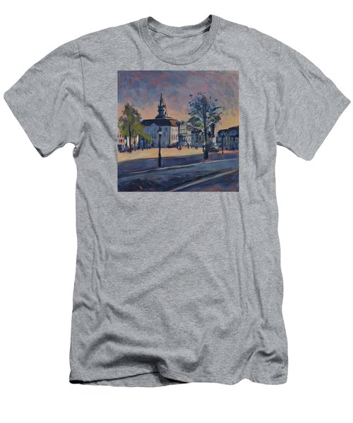 Men's T-Shirt (Slim Fit) featuring the painting Stadhuis Maastricht by Nop Briex