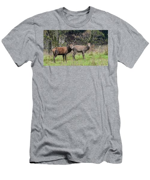 Stag And Doe  Men's T-Shirt (Athletic Fit)