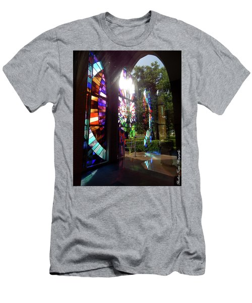 Stained Glass #4720 Men's T-Shirt (Slim Fit) by Barbara Tristan