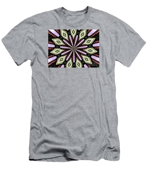Men's T-Shirt (Slim Fit) featuring the photograph Stained Glass Kaleidoscope 25 by Rose Santuci-Sofranko