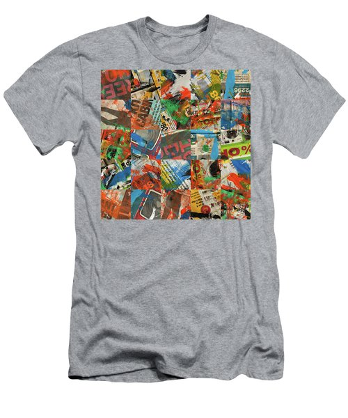 Stained Newspaper Pages Men's T-Shirt (Athletic Fit)
