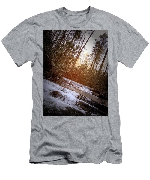 Stair Step Falls Table Rock South Carolina Men's T-Shirt (Athletic Fit)