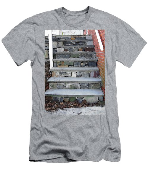 Men's T-Shirt (Slim Fit) featuring the photograph Stairs To The Plague House by RC DeWinter