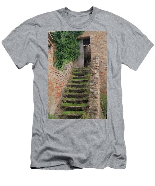 Stairway Less Traveled Men's T-Shirt (Athletic Fit)