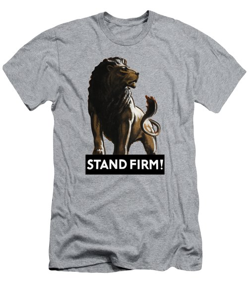 Stand Firm Lion - Ww2 Men's T-Shirt (Athletic Fit)