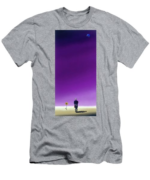 Standing Alone Waiting For The Bowling Balls To Fall When Night Comes Men's T-Shirt (Athletic Fit)