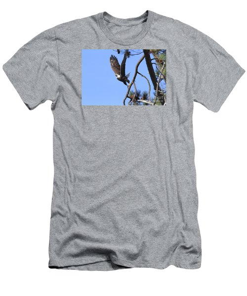 Men's T-Shirt (Slim Fit) featuring the photograph Standing Eagle by Geraldine DeBoer