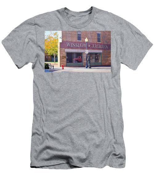 Men's T-Shirt (Athletic Fit) featuring the photograph Standing On The Corner by AJ Schibig