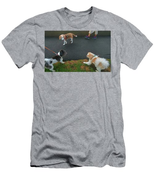 Men's T-Shirt (Athletic Fit) featuring the photograph Standoff by Roger Bester