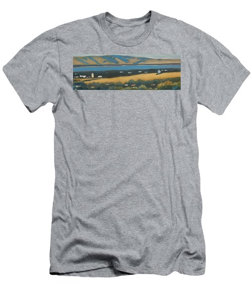 Men's T-Shirt (Slim Fit) featuring the painting Stanford By The Bay by Gary Coleman